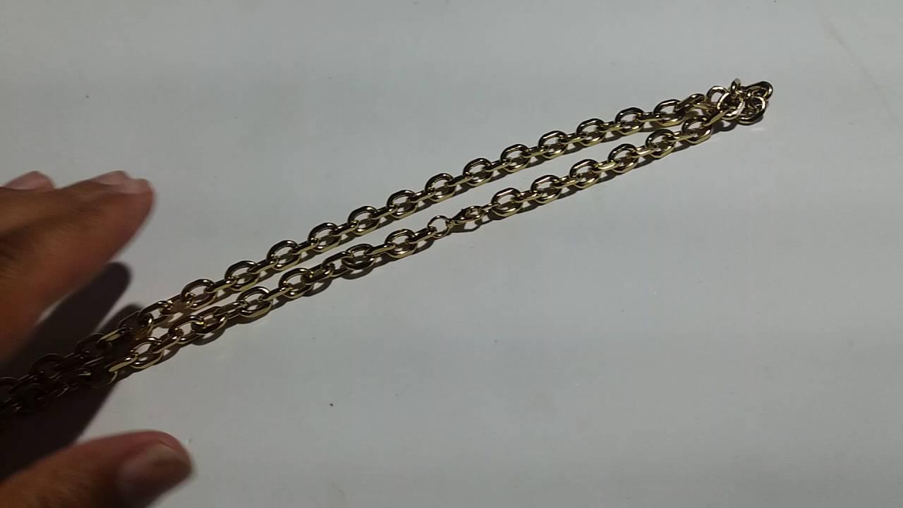 4be8b624fad Corrente Cordão Grosso Masculino Cartier Aço Inox Dourado - YouTube