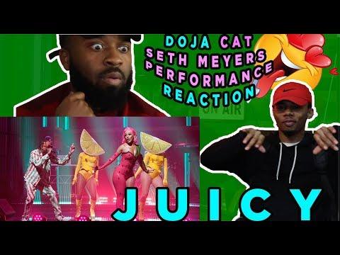 Doja Cat - Juicy Feat. Tyga (Late Night With Seth Meyers) | Reaction