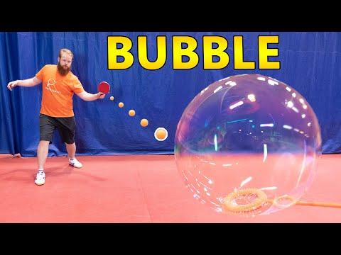 Bubble Bursting Trick Shots I Pongfinity