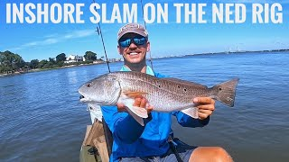 Fishing the Ned Rig in Saltwater for an Inshore Slam!