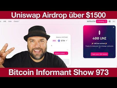 #973 Bargeldlose Gesellschaft Bitcoin, UniSwap Airdrop $1500 & Bitcoin Cash Bakersfield