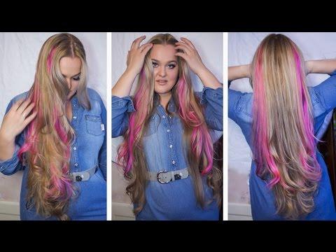 Как покрасить прядь волос