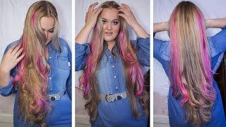 Как окрасить себе розовые пряди дома How I Dyed My Hair Pink