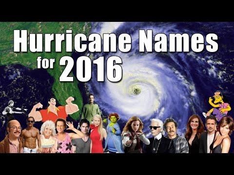 Atlantic Hurricane Names 2016