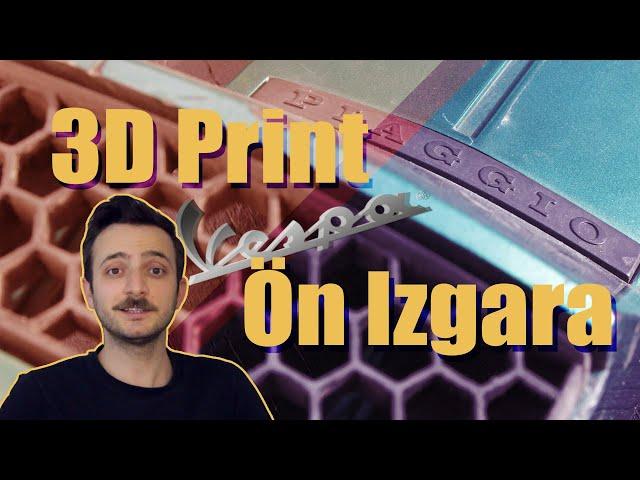 3D Print Vespa Ön Izgara Üretimi - Elektrikli Motosiklet Dönüşüm ve Yenileme
