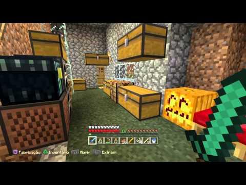 Minecraft PS4 - Mostrando com ficou minha casa em Minecraft.