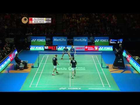 Fu Haifeng/Zhang Nan vs M. Boe/C. Mogensen | MD F Match 5 - Yonex All England Open 2015