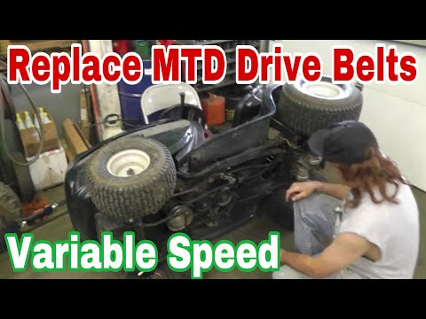 How To Replace The Drive Belts On An MTD Variable Speed Riding Mower - with Taryl