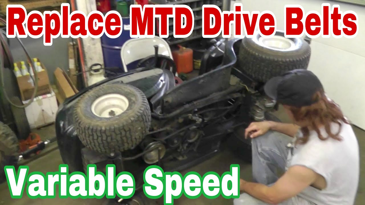 How To Replace The Drive Belts On An Mtd Variable Sd Riding Mower With Taryl