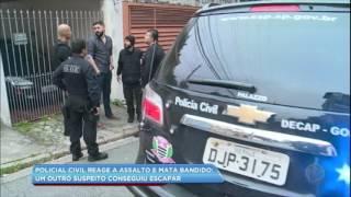 Policial civil reage a assalto e mata bandido na zona oeste de SP