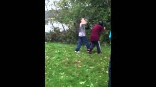 Shity fight in my friend back yard