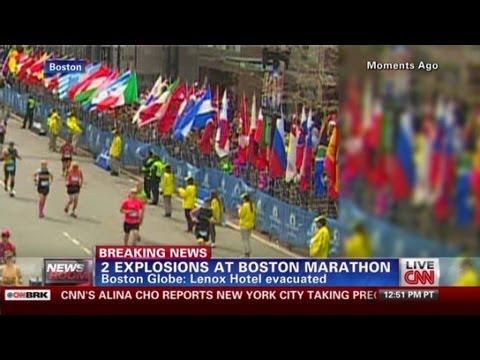 Boston Bombing Eyewitness: 2 Big Explosions And Smoke