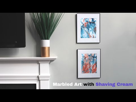 Abstract Marble Wall Art using Shaving Cream: A Nap Time DIY