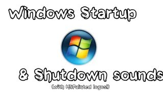 Microsoft Windows Startup and Shutdown sounds - With MSPainted Logos