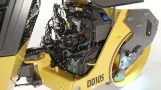 Volvo DD105 asphalt compactor: easy service access