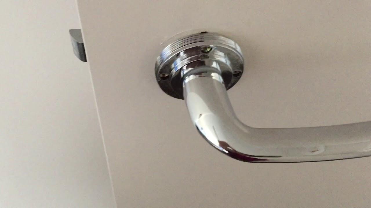 How to Tighten door handle or knob. Woobly door knob, here is how to fix it