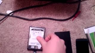 Xbox 360 Slim Hard Drive Case Installation