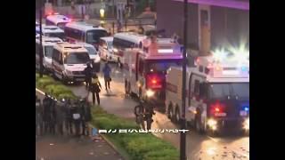 香港警方动用水炮、催泪弹驱散荃湾示威者