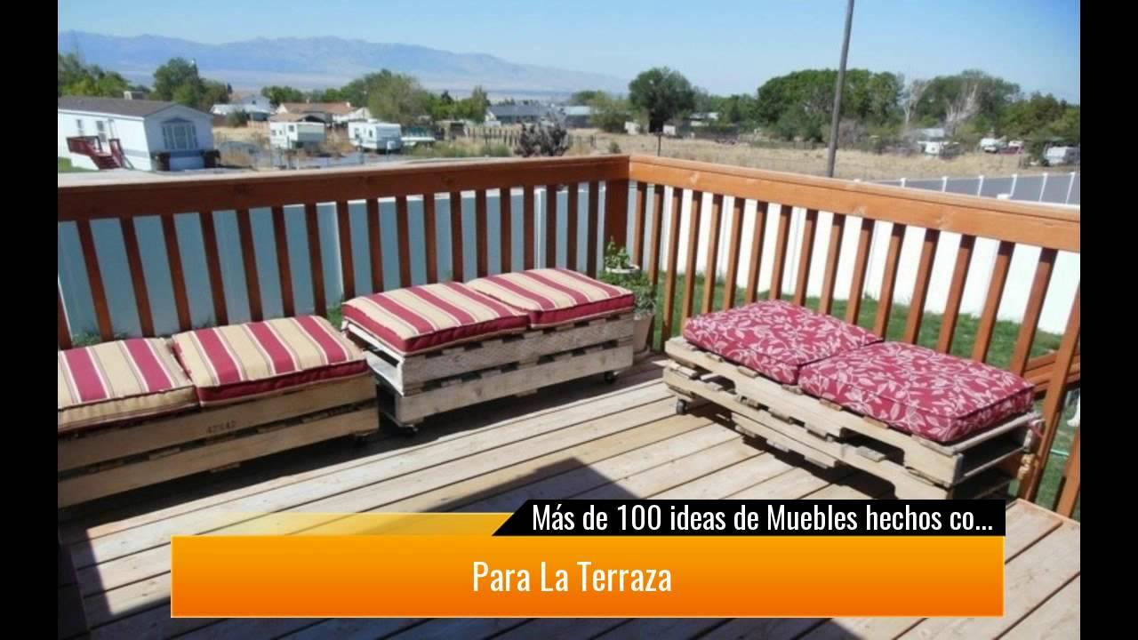 De 100 ideas de muebles hechos con palets reciclados Muebles hechos con estibas