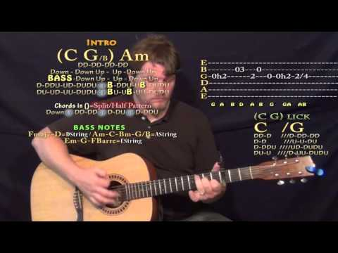 Comfortable (K Camp) Guitar Lesson Chord Chart - Capo 3rd