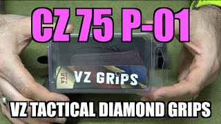 cz 75 p 01 w vz tactical diamond grips