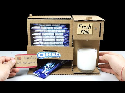 Wow! Amazing DIY OREO and Fresh Milk Vending Machine