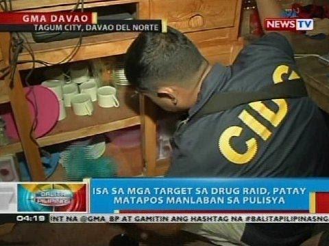 Isa sa mga target sa drug raid sa Tagum City, patay matapos manlaban sa pulisya