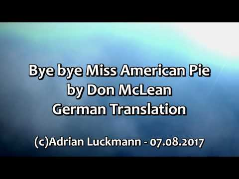 Bye bye Miss American Pie DEUTSCH German