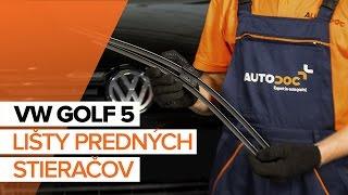 Ako vymeniť lišty predných stieračov na VW GOLF 5 [NÁVOD]