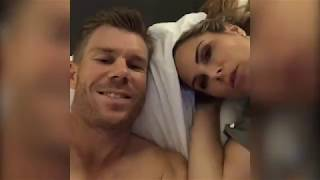 Candice and David Warner celebrate the New Year in bed