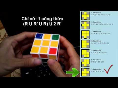 Cách chơi rubik 3x3x3 dễ dàng nhất - Giải tầng 3