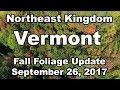 NEK of Vermont Fall Foliage Update September 26, 2017