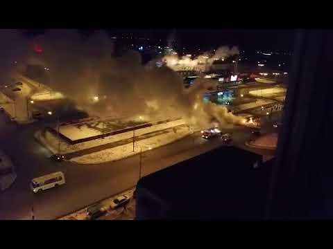 В Оренбурге на ул. Салмышской загорелся маршрутный автобус №59