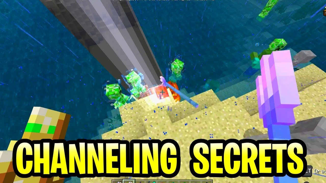 Minecraft Update Aquatic Channeling Secrets! Trident Tutorial Pe, Xbox, Ps4  & Switch