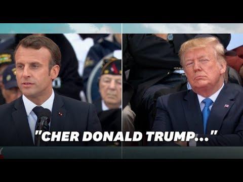 """Débarquement: devant Trump, Macron défend """"l'alliance des peuples libres"""""""