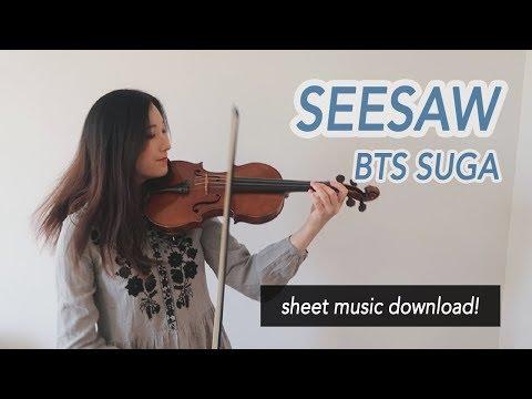 《Seesaw》- BTS Suga (방탄소년단) Violin Cover (w/Sheet Music)