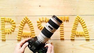 """Выкладывание макарон для фото со словом """"pasta"""""""