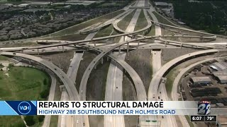 Repairs to structural damage on Highway 288