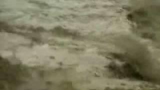Tsunami engulfs a man - Khao Lak, Thailand
