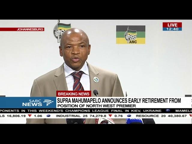 Supra Mahumapelo retires as North West premier.