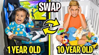 10 year old SWAPS Bedrooms with 1 year old Baby!! (Hilarious) 😂 | The Royalty Family