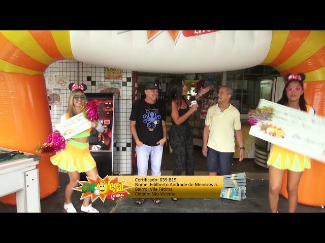 Edilberto Junior, de São Vicente, levou 15 Mil Reais 💰
