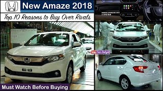 Top 10 Reasons To Buy Amaze 2018 Over Dzire,Xcent,Tigor and Aspire | New Amaze 2018 Top 10