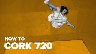 Как сделать корк 720 на батуте (How to Cork 720 on a trampoline)
