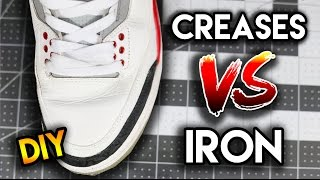 does using an iron really get the creases out? how to remove creases from your shoes