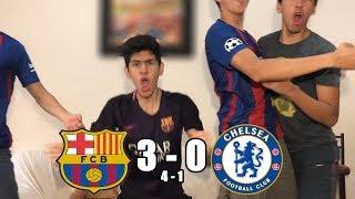 Barcelona Vs Chelsea 3-0 |Champions League 2017/18| (REACCIONES DEL HINCHA)