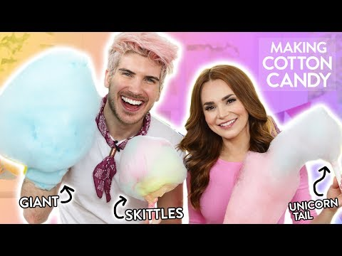 MAKING SKITTLES COTTON CANDY! w/ Joey Graceffa