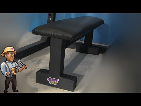 How to Build a Gym BENCH - DIY DUDES