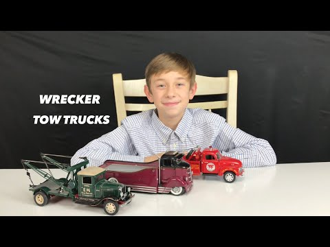 WRECKER DIE CAST TOW TRUCK TOYS WITH TOY MEMORY MAKERS