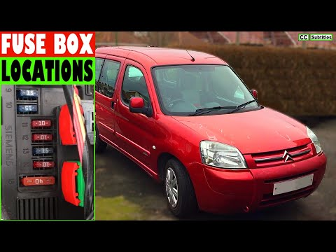 citroen berlingo fuse box locations and how to check fuses on citroen  berlingo - youtube